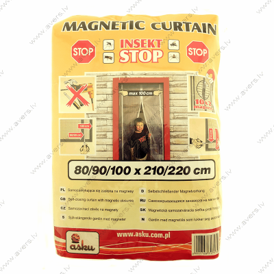 Pretinsektu durvju Magnētisks aizkars (Balts) 800-900-1000 х 2100-2200 mm