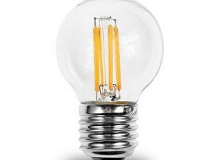 LED Spuldze E27 4W 2700K Filament