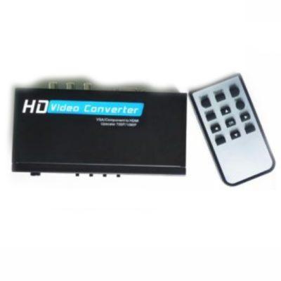 Pārveidotājs VGA+YPbPr+USB uz HDMI YL351