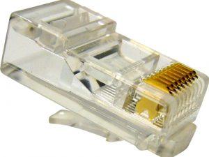 Tīkla apspiežāmais konektors RJ45 (UTP)