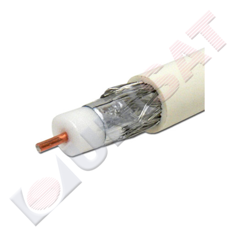Koaksiālais kabelis RG6 48 balts 305m