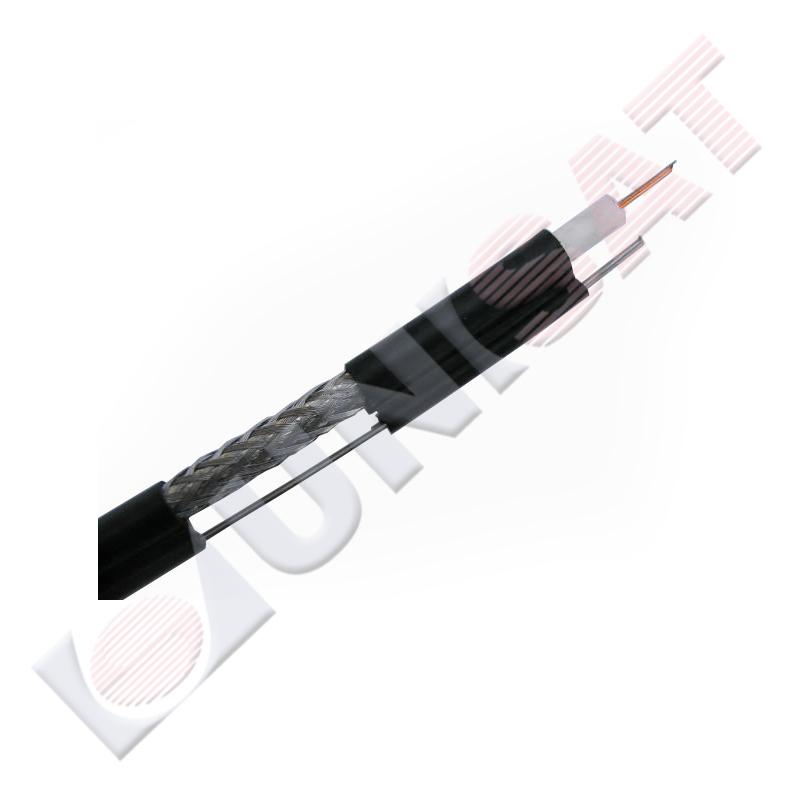 Koaksiālais kabelis RG6 80 ar trosi (cena par 1m)