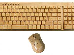 Klaviatūra un datorpele no bambusa (Bezvadu)