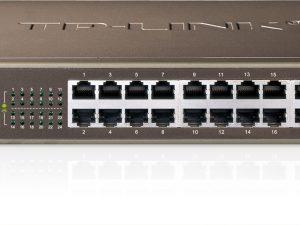TL-SF1024 24-portu 10/100 Mbit iebūvējams montāžas sliedē