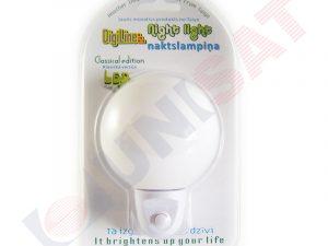 JBB-DJ04B Balta LED naktslampa apaļa ar slēdzi